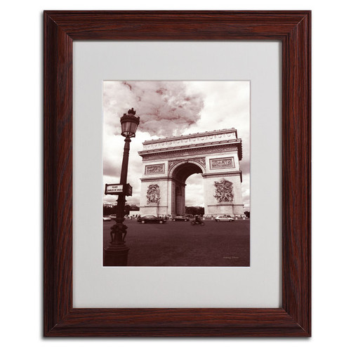 Kathy Yates 'Arc de Triomphe' Framed Mattted Art