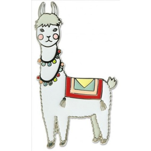 Llama Hard Enamel Cloisonne Pin (Accessory)
