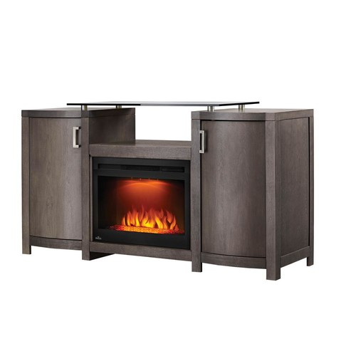 NAPOLEON Whitney 24 in. Mantel Package Electric Fireplace in Deep Grey