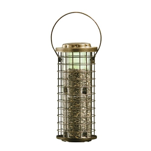 Perky-Pet Squirrel Stumper Wild Bird 3 lb. Metal Caged Tube Seed Feeder 8(114)
