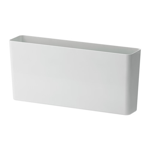 VARIERA Storage box, high gloss, white