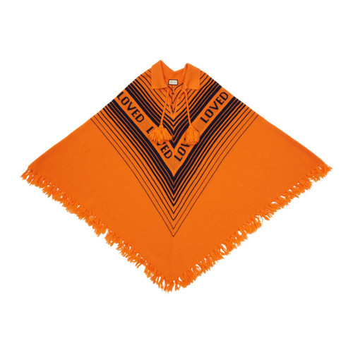 GUCCI Orange & Blue 'Loved' Poncho