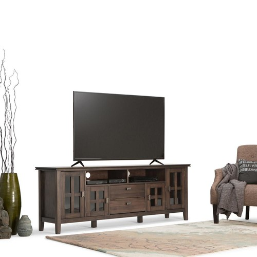 Simpli Home Artisan Natural Aged Brown Storage Entertainment Center