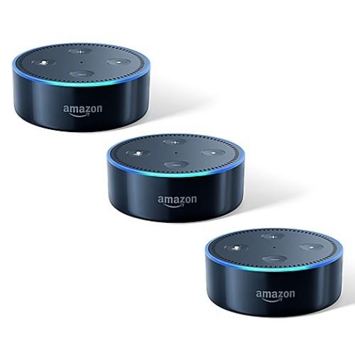 Amazon Echo Dot 3-Pack in Black (2nd Generation)