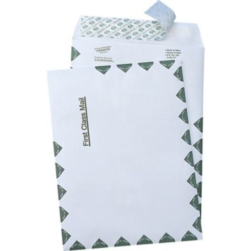 Quality Park Self-Adhesive Tyvek USPS First Class Mailer Envelopes, #110, 14-lb., White, 9