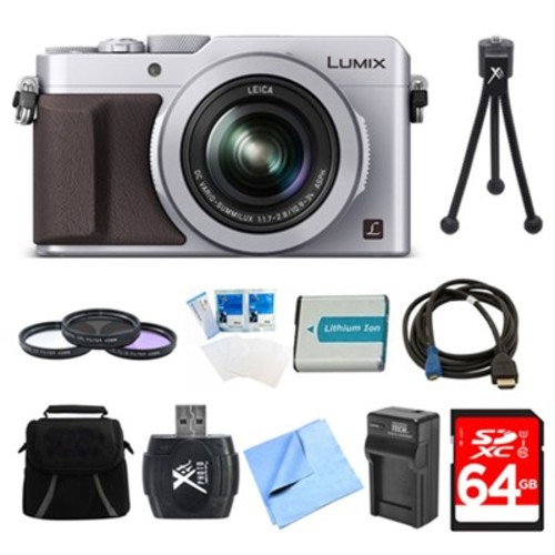Panasonic LUMIX LX100 Integrated Leica DC Lens Camera 64GB Filter Kit Bundle