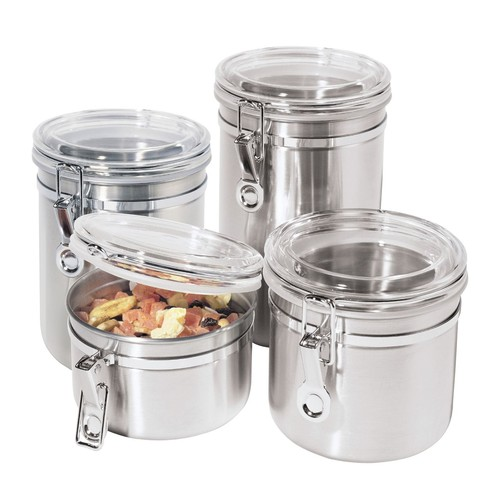 Oggi 4 pc. 18/8 Stainless Steel Canister Set