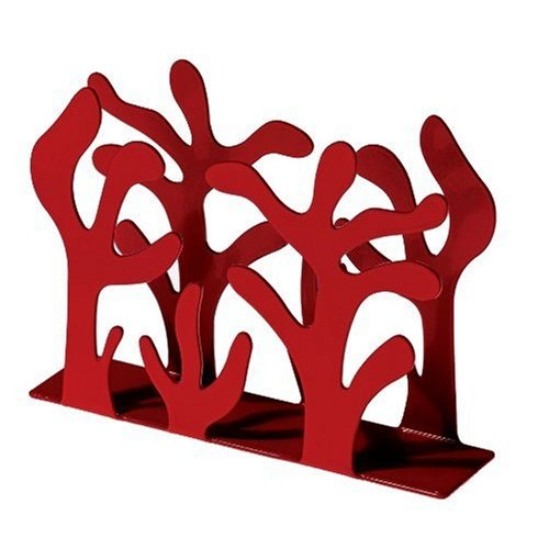 Alessi Mediterraneo Napkin Holder, Red [Red]