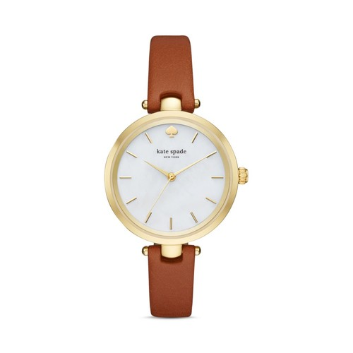 Holland Leather Strap Watch, 34mm