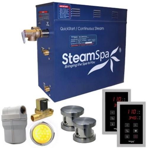 Steam Spa Royal 12 kW QuickStart Steam Bath Generator Package w/ Built-in Auto Drain; Brushed Nickel