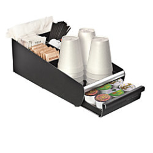Mind Reader Coffee Condiment and Coffee Pod Organizer, Black