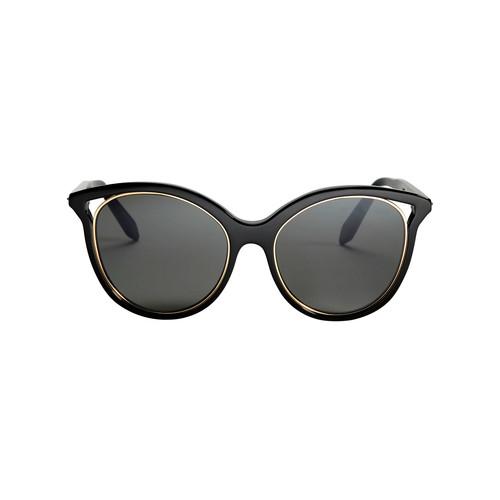 VICTORIA BECKHAM Black Cut Away Kitten Sunglasses