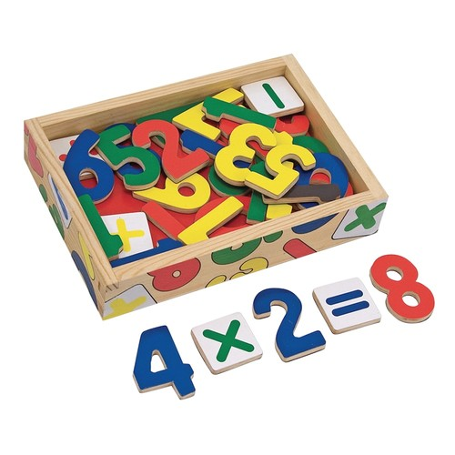 Melissa & Doug 37 Magnetic Wooden Numbers