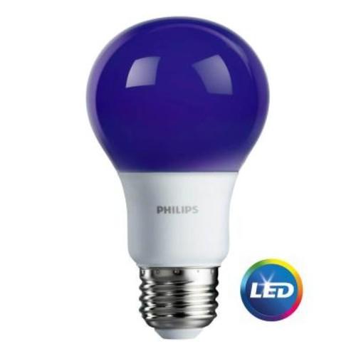 Philips 60W Equivalent Purple A19 LED Light Bulb