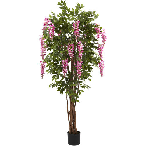 Nearly Natural 6-1/2' Wisteria Silk Tree