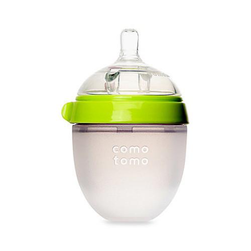 Comotomo 5-Ounce Baby Bottle in Green