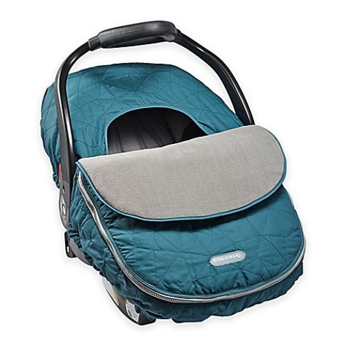 JJ Cole Car Seat Cover in Teal Fractal
