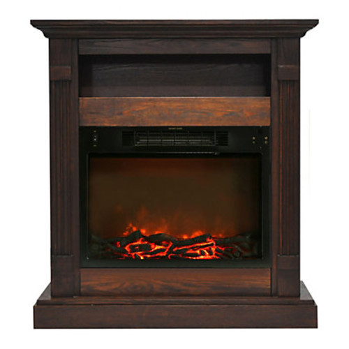 Cambridge Sienna Electric Fireplace With 1,500W Log Insert, 34