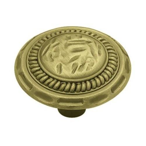 Liberty 1-3/8 in. Antique Brass Sundial Round Cabinet Knob