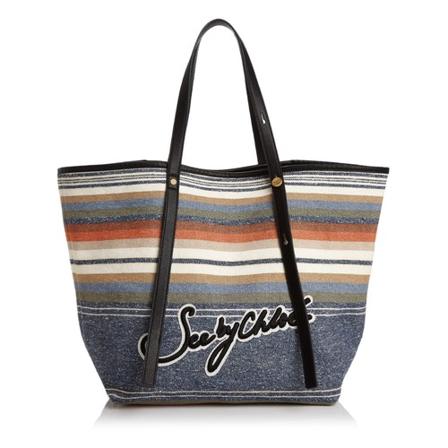 SEE BY CHLOÉ Andy Striped Denim Tote