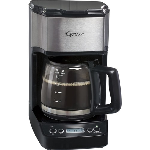 Capresso - Mini Drip 5-Cup Coffeemaker - Black/Stainless Steel