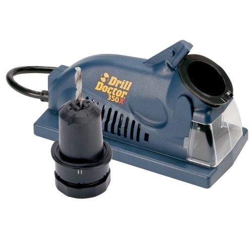 Drill Doctor 350X Drill Bit Sharpener, Engineered for Versatility in handling popular wood & metal bits, Set Point Angle of 118, Sharpens 3/32
