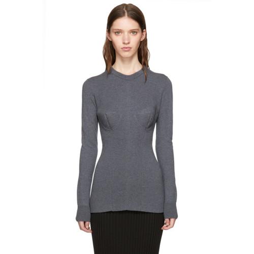 STELLA MCCARTNEY Grey Wool Crewneck Sweater