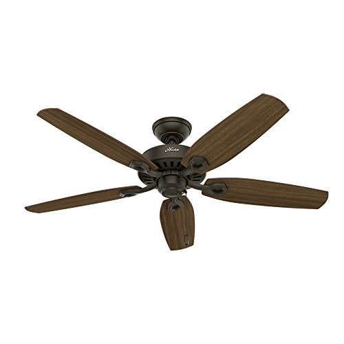 Hunter Fan Company 53242 Builder Elite Energy Star 52-inch Ceiling Fan with five Harvest Mahogany / Brazilian Cherry Reversible Blades