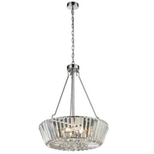 Dale Tiffany Crystal Palace 5-Light Polished Chrome Indoor Pendant