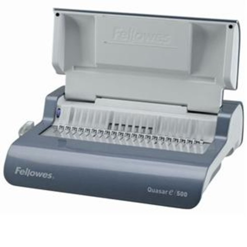 Fellowes Quasar E Electric Comb Binding Machine, Metallic Grey 5216901