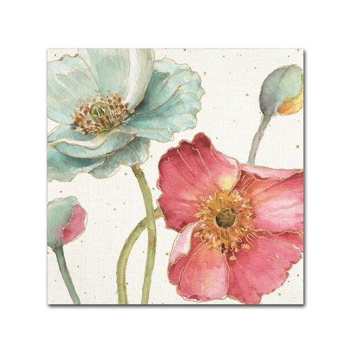 'Botanical Touch Quote II' by Lisa Audit Ready to Hang Canvas Wall Art
