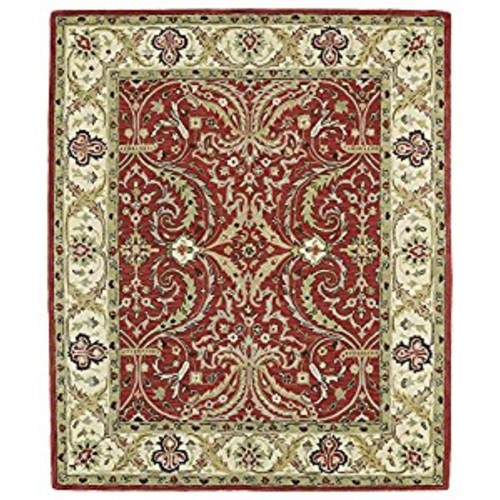 Kaleen Rugs Taj Collection TAJ11-25 Red Hand-Tufted 8'0 x 11' Rug [Red, 8' 0 x 11']