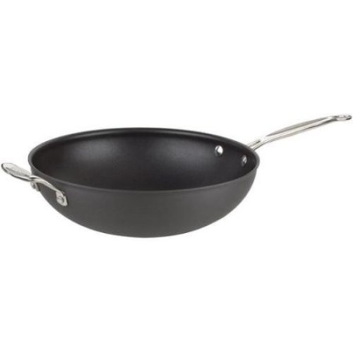 Chef's Classic Non-Stick Hard Anodized 12 1/2' Stir-Fry Pan
