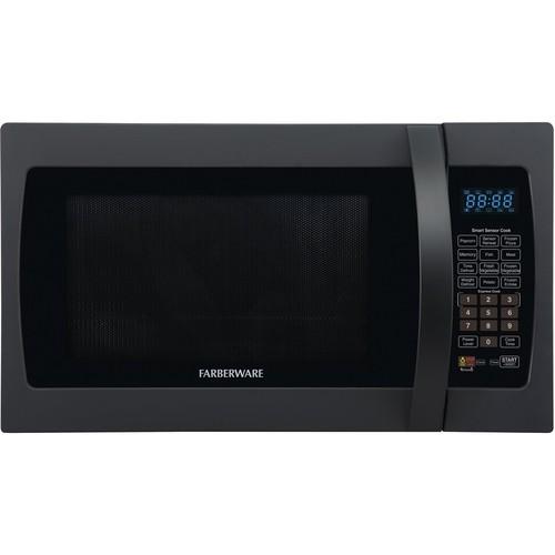 Farberware - Professional 1.3 Cu. Ft. Mid-Size Microwave - Frozen black