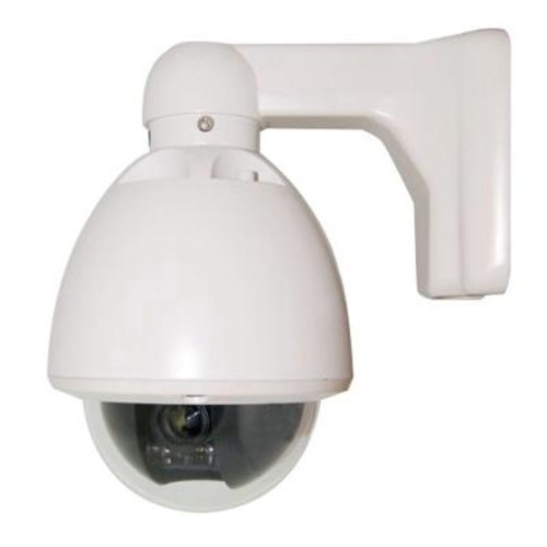 SeqCam Wired Mini Speed Dome Indoor/Outdoor Security Camera