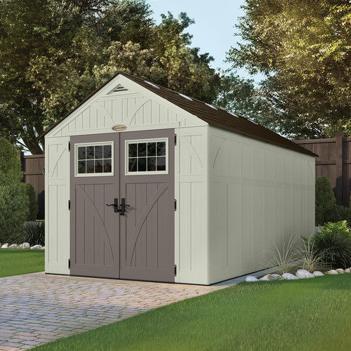 Suncast 8' x 16' Tremont Shed with Double Doors