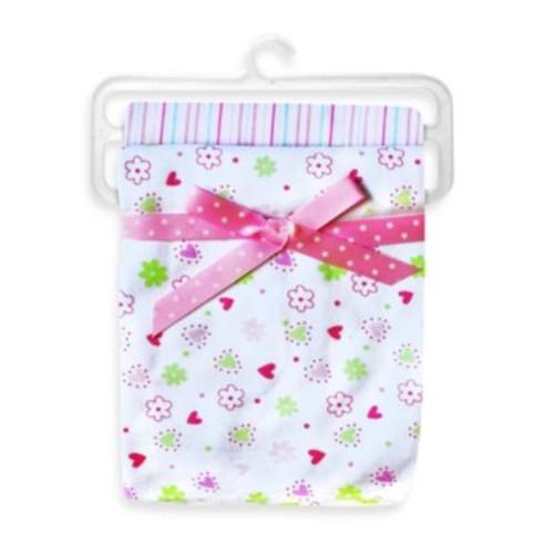 Spasilk Flower 2-Pack Swaddle Blanket in Pink