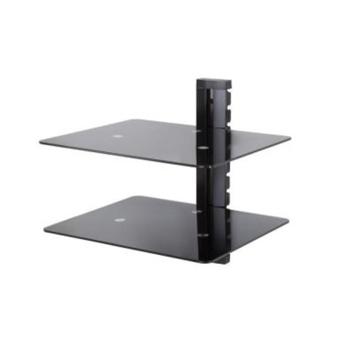 AVF Wall Mounted AV Component Shelving Bracket, 2 Shelf