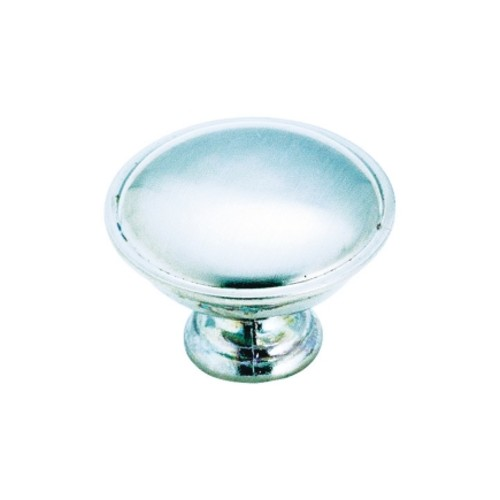 Amerock Allison Round Cabinet Knob 1-5/16 in. Dia. 15/16 in. Brushed Chrome 10 pk(1875423)