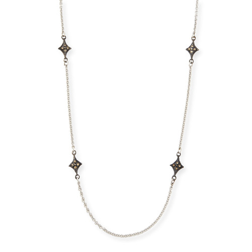World Crivelli-Station Necklace with Champagne Diamonds