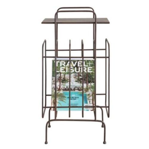Creative Co-Op Terrain Metal Table w/ Magazine Holder