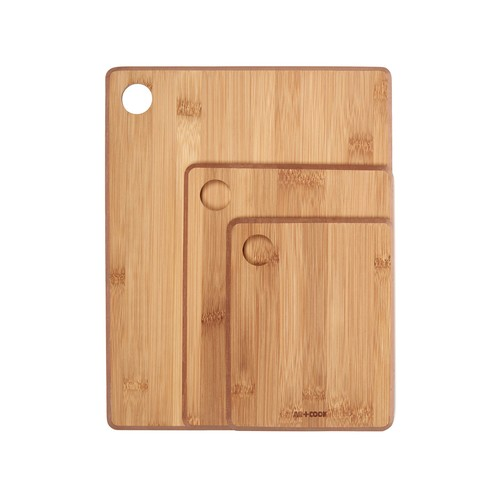 Bamboo Cutting & Serving Boards 3-Piece Set