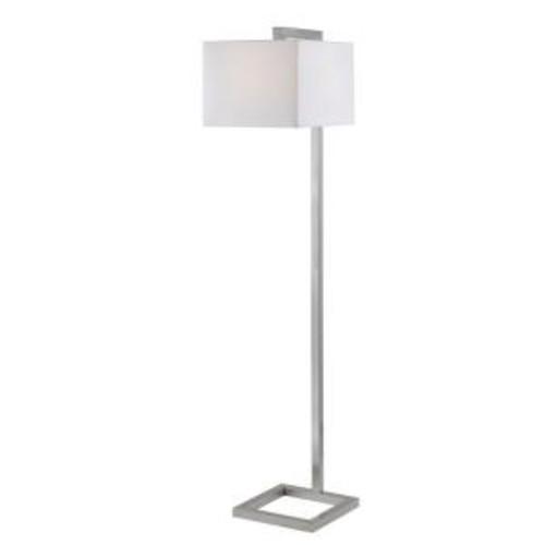Kenroy Home 4 Square 64 in. Brushed Steel Floor Lamp