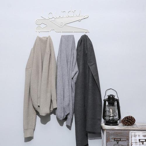 Ikee Design 'Laundry' 5-hook Metal Wall-mounted Wall Hooks Hanging Organizer [option : Black]