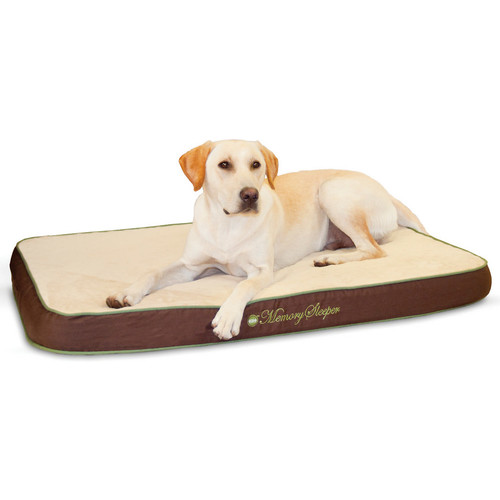 K&H Pet Products Memory Sleeper Mocha Dog Bed [Large]