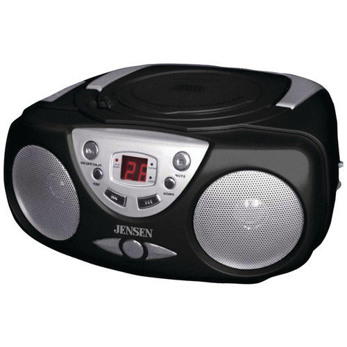 Jensen CD472B Sport Portable Stereo CD Player with AM/FM Stereo Radio Bass Boost and Aux Inputs