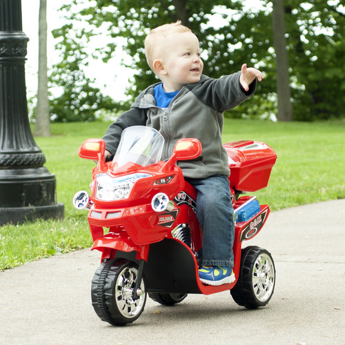 Lil' Rider 3 Wheel Battery Powered FX Sport Bike - Red