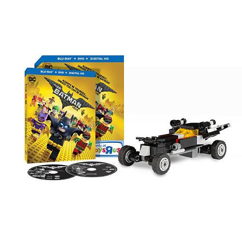 The LEGO Batman Movie Blu-Ray Combo Pack (DVD/Blu-Ray/Digital HD) with Lego Toy
