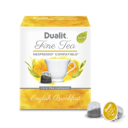 Dualit And Nespresso* Compatible Fine Tea NX Capsules, English Breakfast, 2.2 Grams, Pack Of 75
