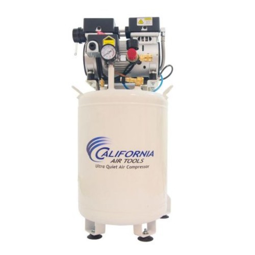California Air Tools 10010LFDCAD Ultra Quiet & Oil-Free 1.0 Hp, 10.0 Gal. Steel Tank Air Compressor with Air Drying System